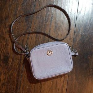 Michael Kors Ginny Leather Lavender Crossbody